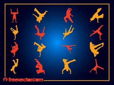 Garçons Break Dancer Pack Silhouette