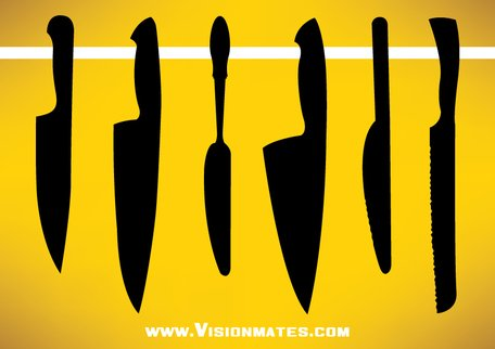 Kitchen Knife Vector kitchen knife vector sets, vectors - clipart