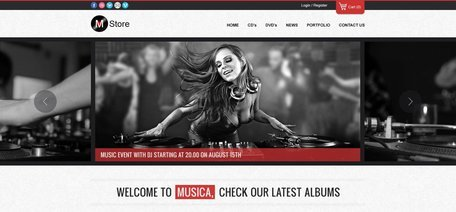 Musica Free PSD Template