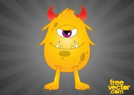 Monstre Cartoon heureux