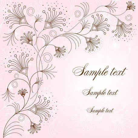 Exquisite hand-painted background pattern 02