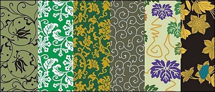 Vector traditional pictorial series 7 -Background patterns