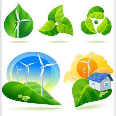 New Bio Green Energy Icons