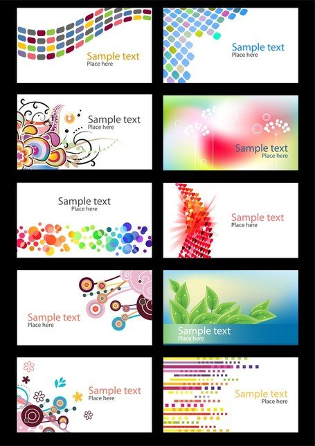 Trend Vector Colorful Cards