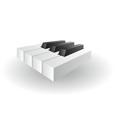 Glanzend Piano toetsen pictogram in 3D
