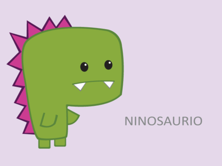 Green Dinosaur Cartoon Character
