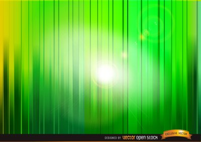 Shine through green vertical stripes background