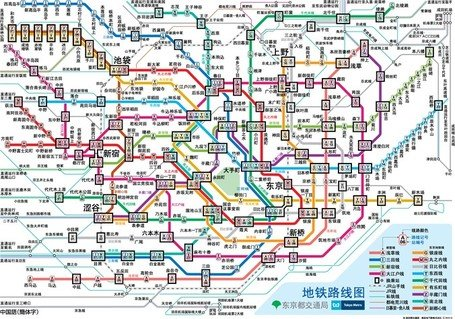Train Route Map Tokyo English Creativehobby Store