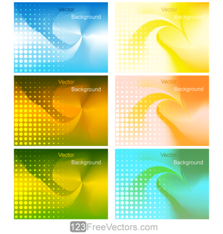 Vector Abstract Colorful Gradient Mesh Background
