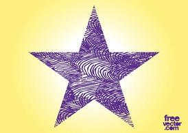 Grunge Purple Star