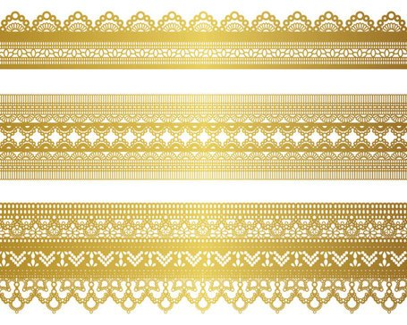 Gold lace pattern 04