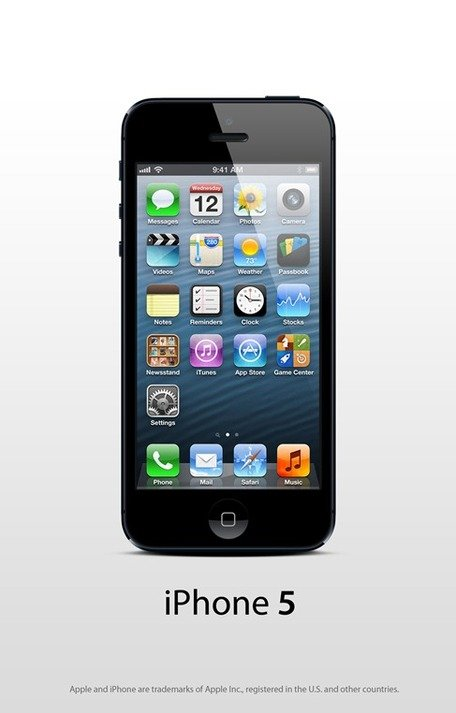 Apple iPhone 5 negro PSD