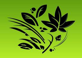 Stylized Leaves Composition