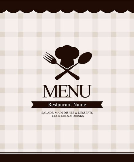 Continental menu template 12