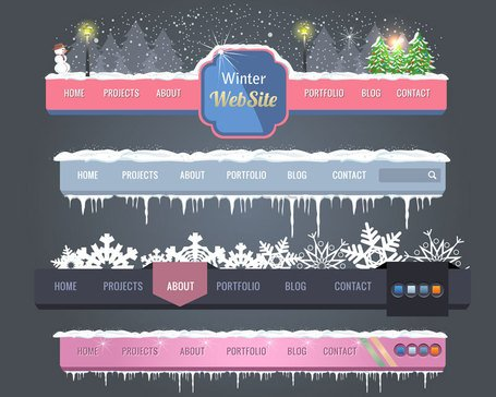 Christmas navigation bar vector-1