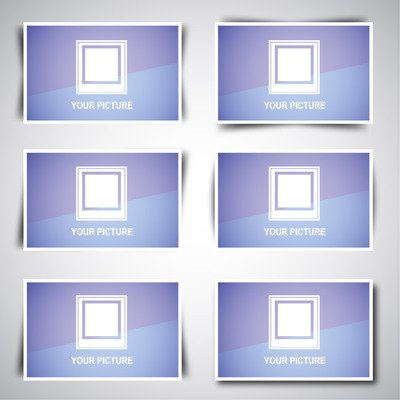 Web-Image-Box-Pack mit Schatten-Designs