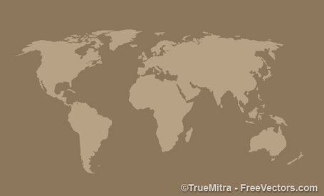 World Map Vintage Background