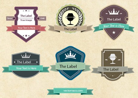 Gratis Vintage Vector Labels