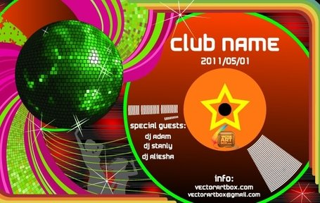 Vector Club Poster Template Club Poster Template
