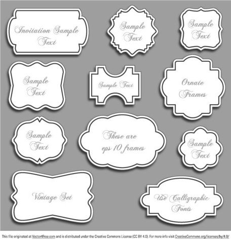 Vintage Ornate Vector Frames