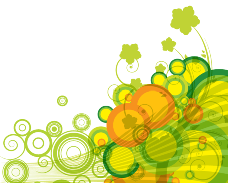 Abstract Green Bubbles