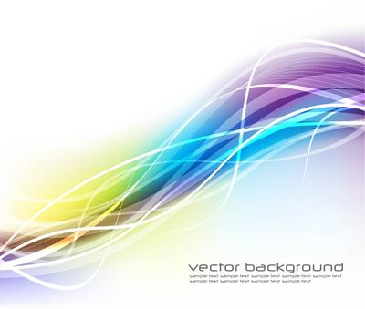 Fluorescent Colorful Wavy Lines Background