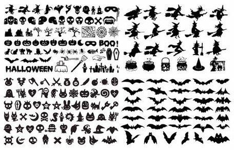 Colección Vector Halloween silueta Elements