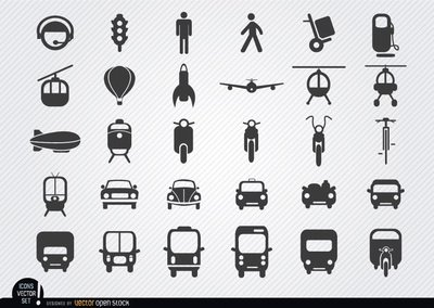Transport Icon-set