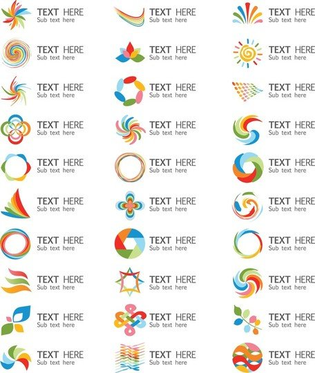 A Set Of Beautiful Vector Graphics Logo