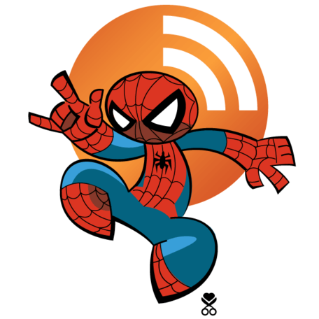 Vector icono de Spiderman RSS