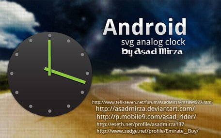 Android Svg Analog Clock Vector Free