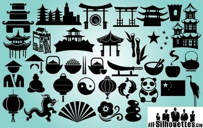 China Sing & Symbol Pack Silhouette