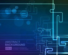 Abstract technology vector line and bokeh background