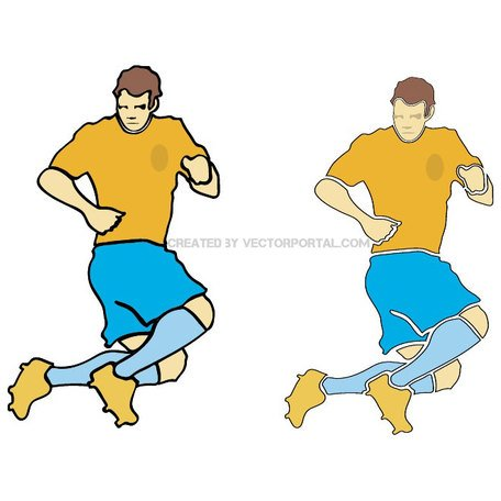 FOOTBALL PLAYER VECTOR 3 eps