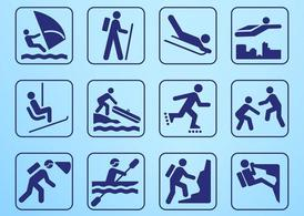 Outdoor Summer Recreation Icons
