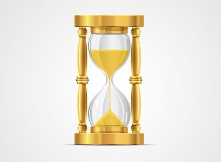 Golden Hourglass Sand Glass Clock