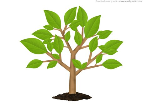 Green tree environment symbol (PSD)
