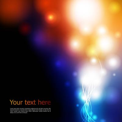 Abstract Dark Background with Colorful Lights