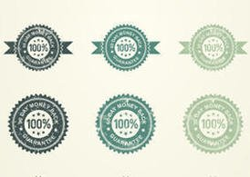 Grunge Money Back Guarantee Badge Vectors