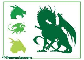Dragon-Silhouetten-Set