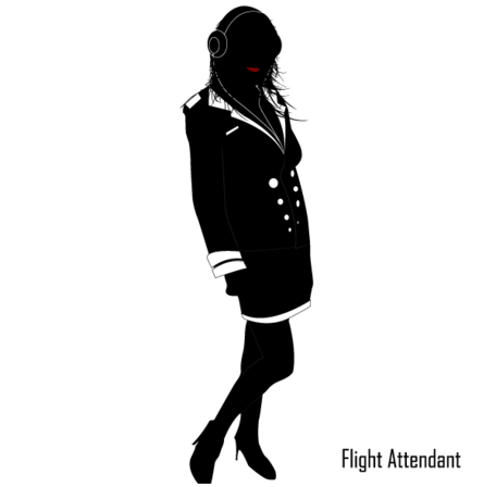 Flight Attendant Vector Image Free