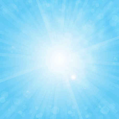 Free Sun on Blue Sky Background