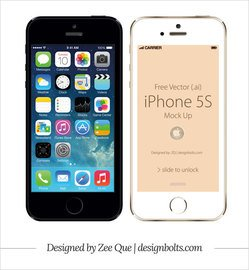 Apple iPhone Mockup frontal de 5S