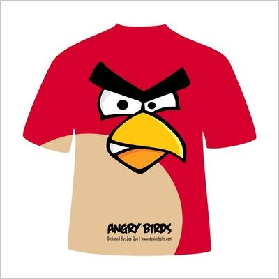 Rode boos vogel aviaire raket T-Shirt Design