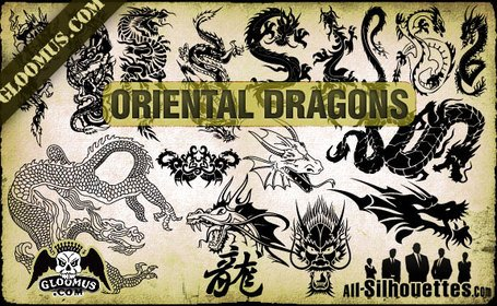 16 Dragons orientaux de vecteur