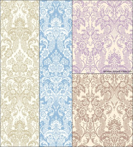 Vector background of elegant classic pattern material