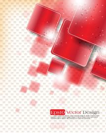 Abstract Bright Background with Rounded Squares