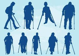 People With Crutches, Clip Art - Clipart.me