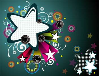 The trend of the design elements of vector star material