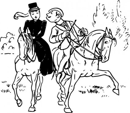 Couple Riding Horses